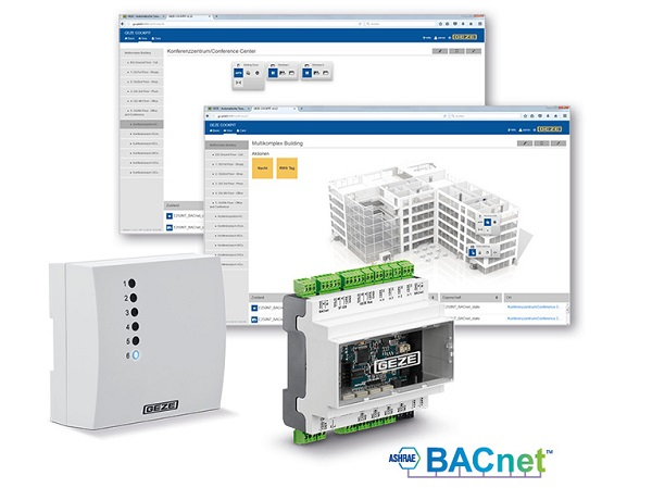 The new BACnet building automation system GEZE Cockpit makes buildings really smart. Doors and windows can now also be integrated into a building system, and operated and monitored from a central location. Photos: GEZE GmbH