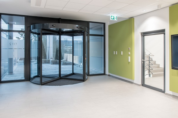 Doors and windows can now be integrated into a building system and operated and monitored from a central location, as here in our development center. Photo: GEZE GmbH
