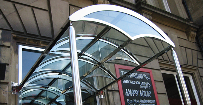 glass canopies with real impact
