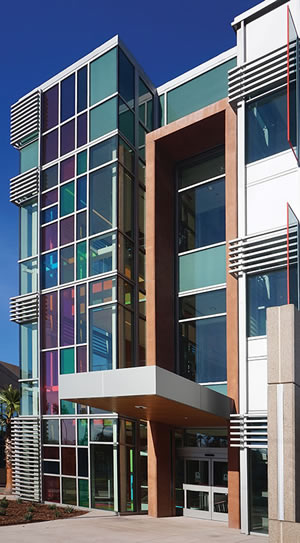 San Jose Downtown Health Center in San Jose, Calif., incorporates SAFTI FIRST's 60-minute fire-resistive curtain wall, which also meets seismic requirements