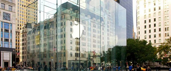 The Apple Store at 59th Street and Fifth Avenue, New York City. Image © Eckersley O'Callaghan