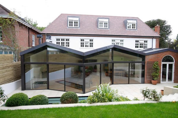 KELLER minimal windows® to extension opening at various angles