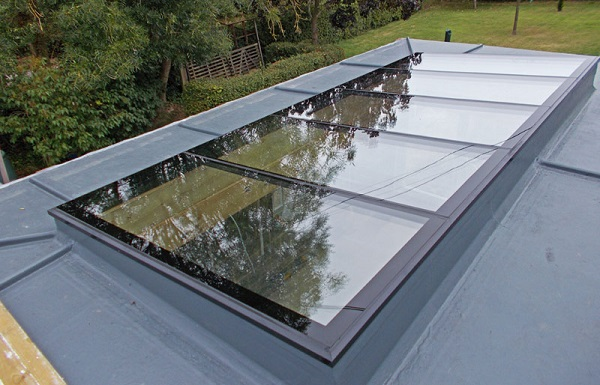 Modular rooflights create a spectacular glass ceiling