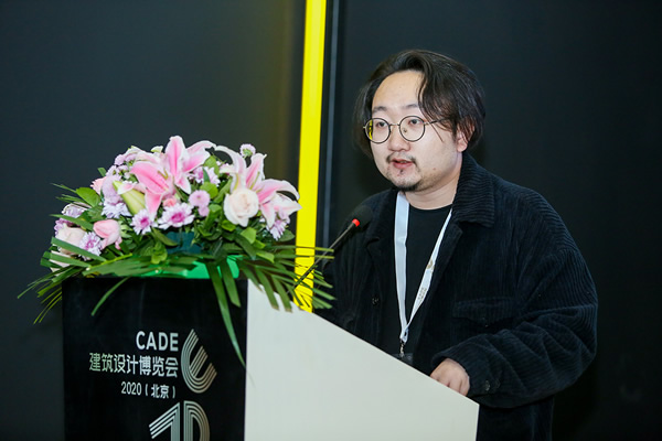 "Mr. Gao Changjun, the curator of ""Material Possibility"" of the Space Device Exhibition"