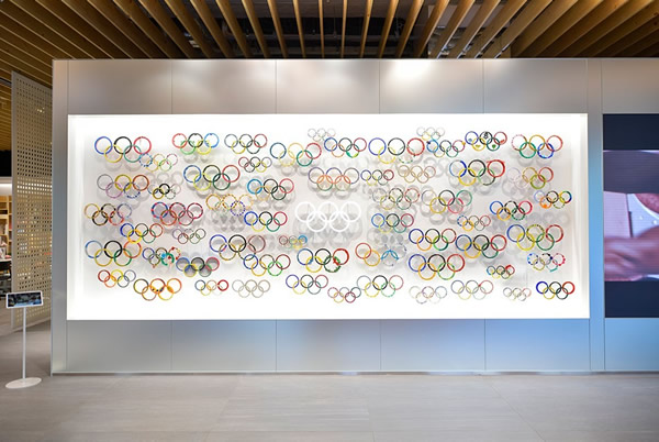 The Spirit of Olympic Rings Shining the World