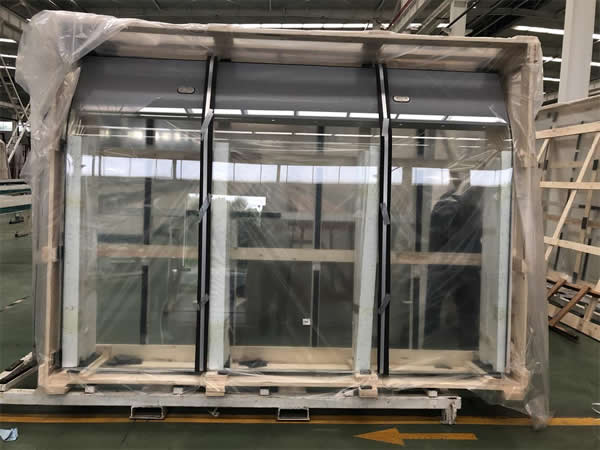 Hemline glass in NorthGlass Tianjin Company factory is ready to go