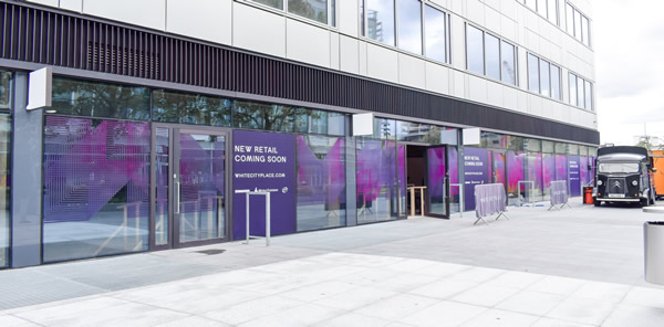 OAG Facade has been unveiled at West Works, Old BBC Studios, White City