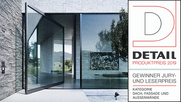 The pivoting door wins the DETAIL product price
