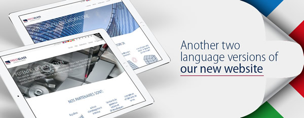 Another two language versions of our new website
