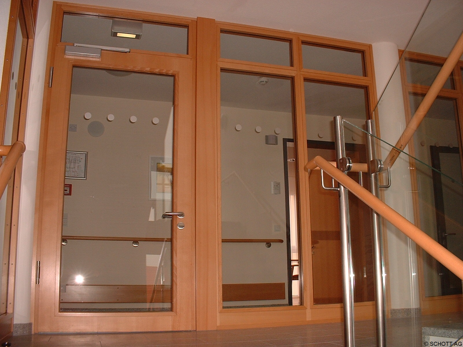 Schott Fire Resistant Glass Approval For Use In Premier