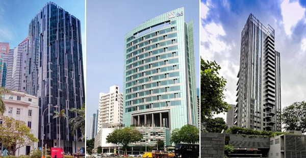 Photos of recent Seiko Wall Building Façade projects in Singapore