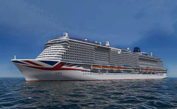 Arguably one of the most exciting imminent launches is Iona from P&O Cruises. Image © P&O Cruises