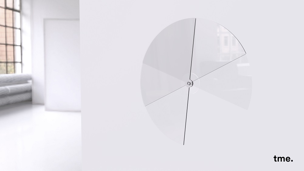 "The third prize in the Guardian Student Design Challenge 2016 was won by Emanuel Etzersdorfer and Felix Stadie with their project ""tme. Glass clock""."