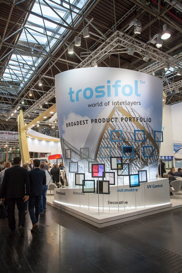 "Trosifol® stand at ""glasstec 2016"" in Düsseldorf"