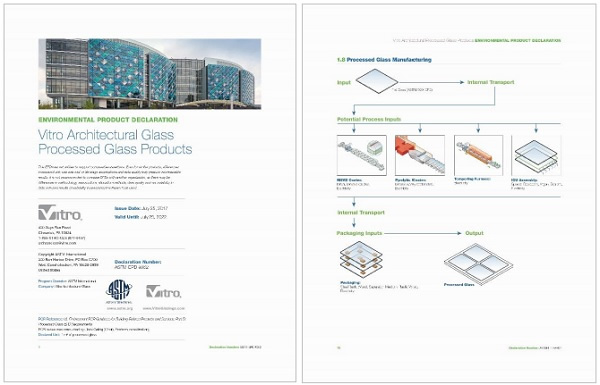 Vitro Glass publishes North America's first third-party-verified Environmental Product Declaration (EPD) for architectural glass