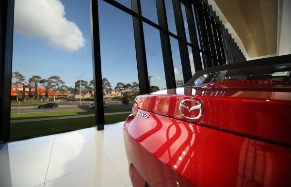 Why full transparency was chosen in the design of Mazda Australia's new base
