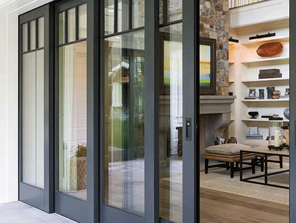 Blur the line between indoors and outdoors with multipanel for Multi panel sliding glass doors