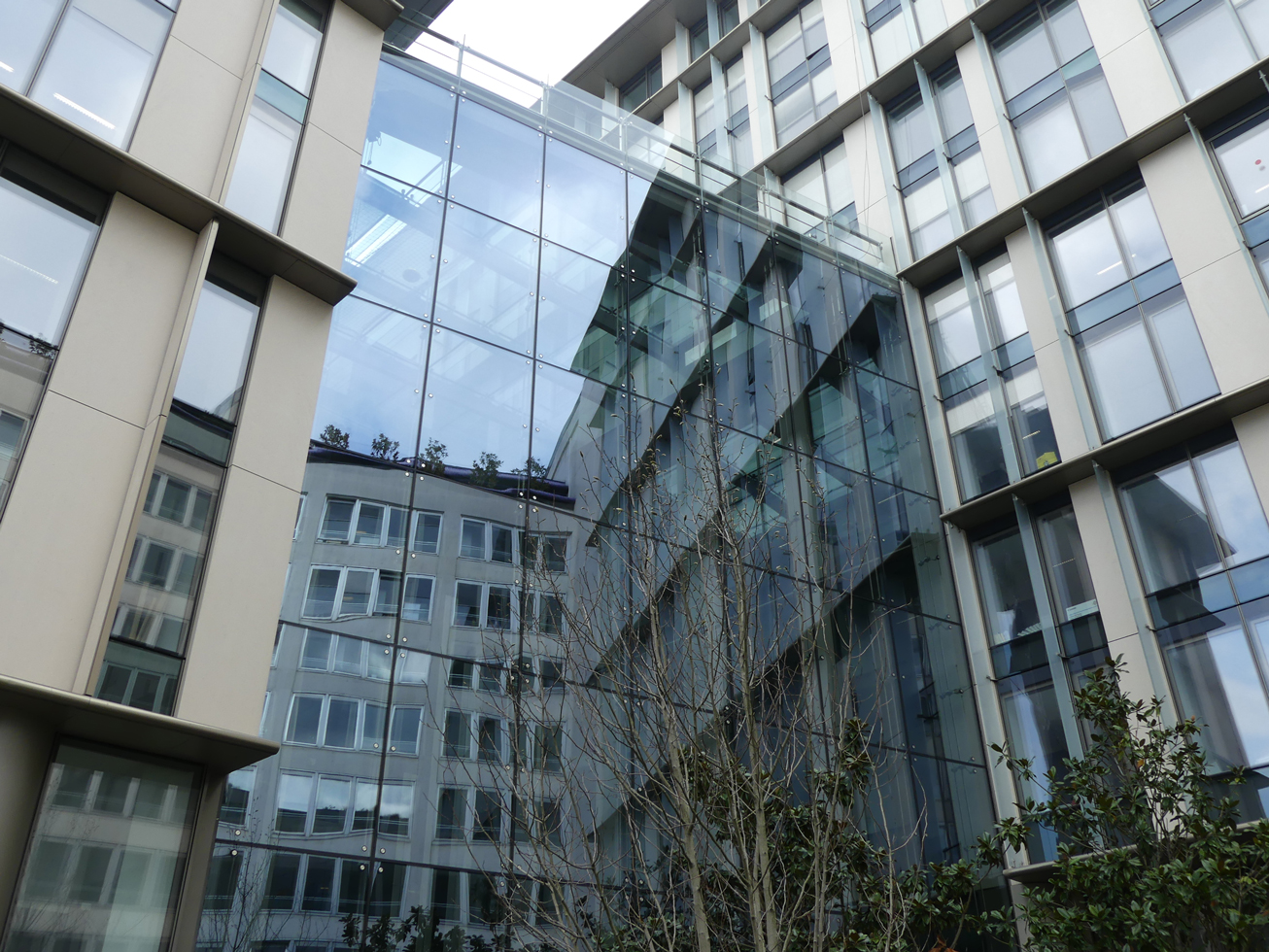office building facade. Insulating Glass Facade - Office Building In Paris G