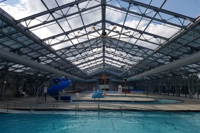 Unique Indoor Outdoor Pool Design For Batesville Community