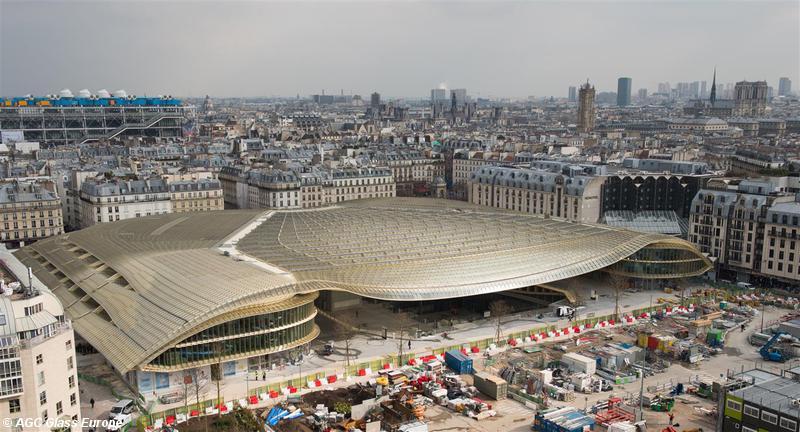 Agc Adorns The Roof Of Les Halles De Paris With Glass