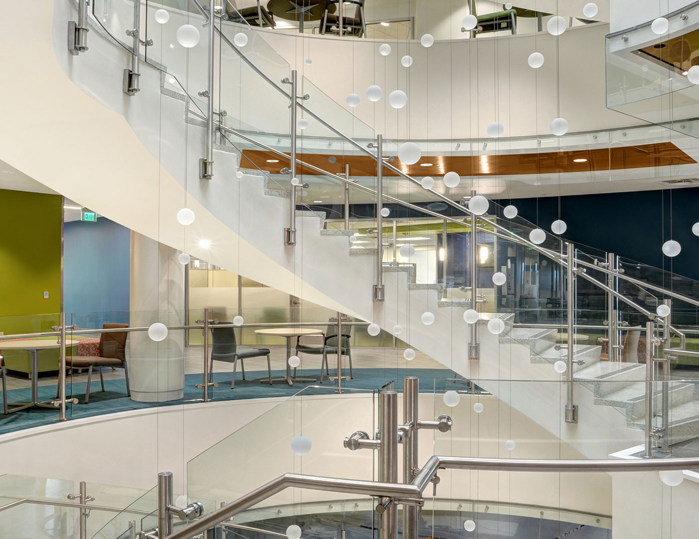 Trex commercial products vista railing at csu health and