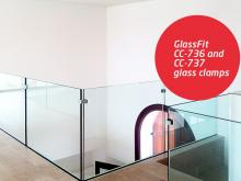 Complement your glass balustrade with our new GlassFit CC-736 and CC-737 glass clamps