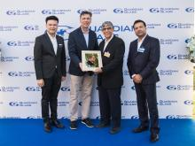 Left to right: Sutti Klovuttivat, Thailand Sales Manager, Guardian Glass; Ron Vaupel, Guardian Industries President and CEO; Dalip Kumar Pawa, Owner, Hoffen Group; and Sanjiv Gupta, General Manager, Asia Pacific Region, Guardian Glass.