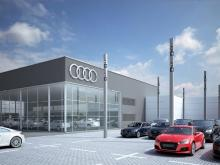 Maple take the lead with roller blind technology at Audi showroom