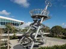Aventura Slide Tower Features Hurricane-Rated Glass