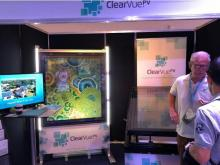 Zurreal artworks being demonstrated with ClearVue solar PV IGU and skylight at Fenestration 2018, Port Douglas.