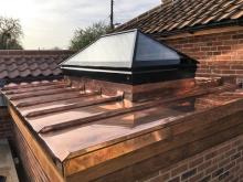 Roof Maker: Copper Roof Extension - Wickham Market