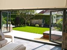 Made to measure aluminium bi-fold doors for large spaces