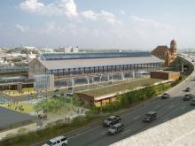 Innovation Glass: Main Street Station renovation: 1,100-FT VS1 Wall
