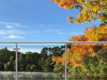 Beauty of Nature Shines Through Architectural Glass Railing