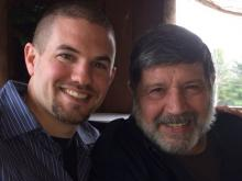 Brian Albanese (L) with his father Michael Spaccaforno (R)
