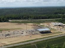 Video coverage of the construction site of Press Glass' new plant in the USA