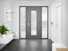 "New in the Roto Door range: ""Roto Solid C"" concealed door hinge for modern aluminium main doors"