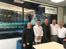 From left to right: Magdi El-Awdan (Siemens), Horst Mertes (FeneTech), Heinz-Josef Lennartz (Siemens), Ron Crowl (FeneTech), and Bernd Lehmann (Siemens).