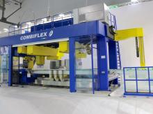 The Combiflex modular line from Forvet, the specialist machine builder, combines eleven glass processing steps into a footprint of just 33 square meters and is automated with Siemens technology.