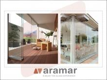 Glass terrace enclosures, available in Aramar