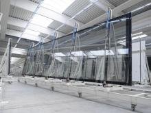 10,6 meter long insulating glass