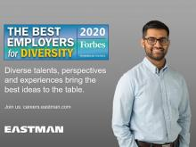 Eastman recognized as a Best Employer for Diversity for 2020