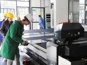 LiSEC Cutting Table used in the Tyrolean Glasfachschule