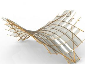 Structural analysis of bending bamboo and thin glass