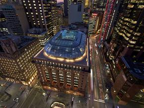 50 Martin Place showcases its magnificent new glass dome roof.