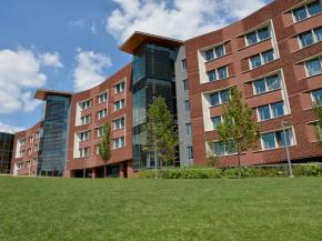 Wausau's curtainwall, windows and sun shades shape the University of Pennsylvania's New College House