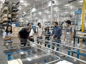 CRL-U.S. Aluminum Hosts University of Florida School of Architecture Plant Tour in Los Angeles