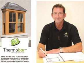 Thermobar in the UK's first-ever BFRC A++ Rating for a vertical slider achieving U-value 1.0 W/m²K