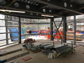 Work in progress at Whitechapel station