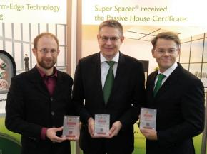 Super Spacer® receives award from the Passive House Institute